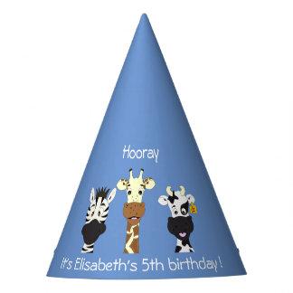Chapéu De Festa Aniversário de criança engraçado do azul dos