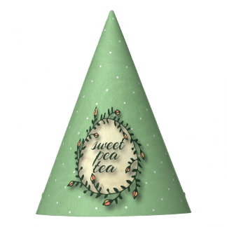 Chapéu De Festa Aniversário do chá da ervilha doce - bolinhas