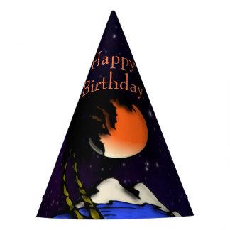 Chapéu De Festa Aniversário do design da noite da ilha