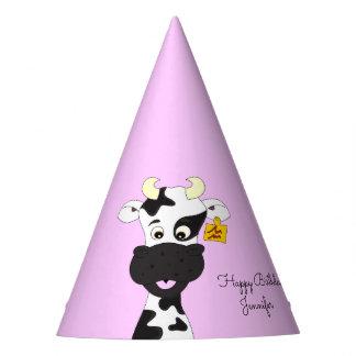Chapéu De Festa Aniversário engraçado do nome da menina do rosa