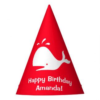 Chapéu De Festa Aniversário vermelho 4Amanda da baleia (nome)