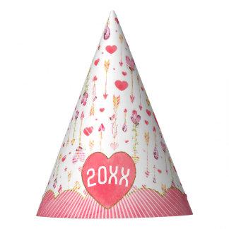 Chapéu De Festa Ano do dia dos namorados das setas dos queridos
