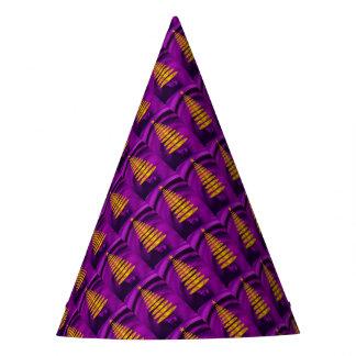 Chapéu De Festa Árvore de Natal dourada abstrata no roxo