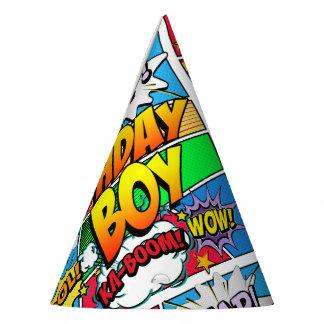 Chapéu De Festa Banda desenhada do menino do aniversário