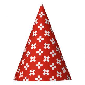 Chapéu De Festa Bandeira da suiça com teste padrão do coração