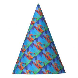 Chapéu De Festa Barco abstrato da sucata do Cubist contra o céu