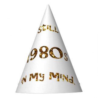 Chapéu De Festa brilho do ouro da nostalgia dos anos 80