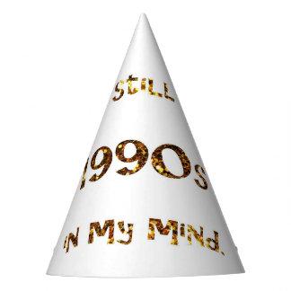 Chapéu De Festa brilho do ouro da nostalgia dos anos 90