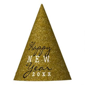 Chapéu De Festa Brilho do ouro do feliz ano novo