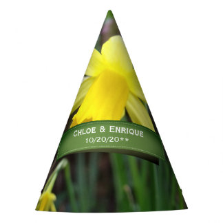 Chapéu De Festa Casamento personalizado do foco Daffodil macio