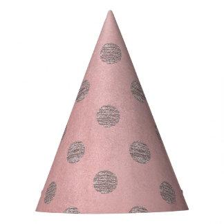Chapéu De Festa Chique moderno das bolinhas Glam cor-de-rosa do