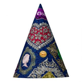 Chapéu De Festa Colagem lindo de pedra preciosa do broche da jóia