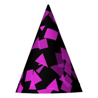 Chapéu De Festa Confetes cor-de-rosa brilhantes no preto