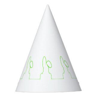 Chapéu De Festa Contorno de uma luz da lebre - verde