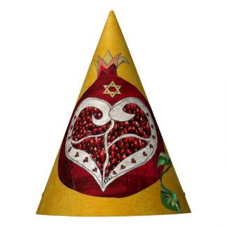 Chapéu De Festa Coração Hanukkah Rosh Hashanah da romã de Judaica