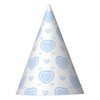 Chapéu De Festa Corações azuis & brancos românticos