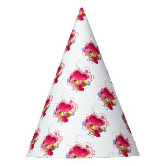 Chapéu De Festa Corações e flores