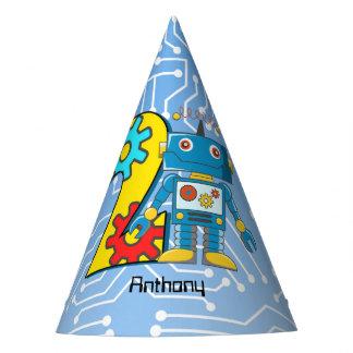 Chapéu De Festa Costume do segundo aniversário do robô