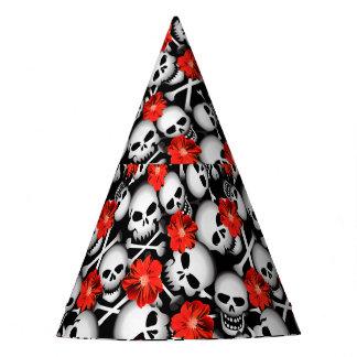 Chapéu De Festa Crânios e flores