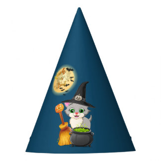 Chapéu De Festa Desenhos animados cinzentos do Dia das Bruxas do