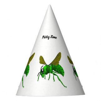 Chapéu De Festa Desenhos animados verdes e abelha da vespa do