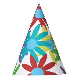 Chapéu De Festa Design ilustrado floral colorido