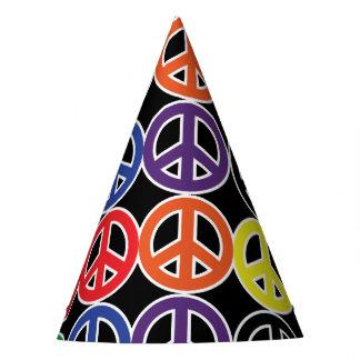 Chapéu De Festa Desordem da cor do arco-íris do sinal de paz