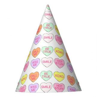 Chapéu De Festa Doces Pastel dos corações do dia dos namorados do