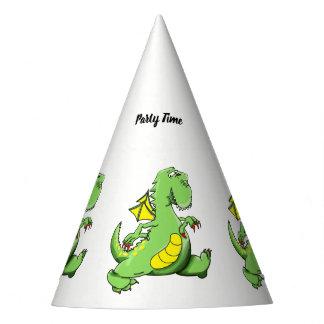 Chapéu De Festa Dragão verde dos desenhos animados que anda em