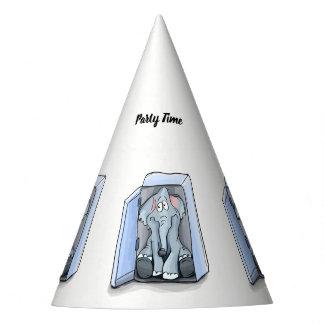 Chapéu De Festa Elefante dos desenhos animados que senta-se dentro