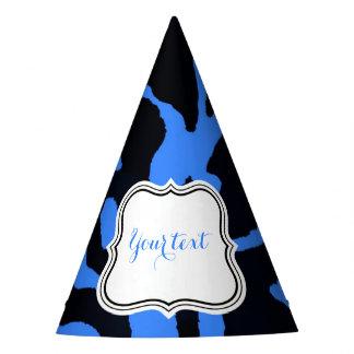 Chapéu De Festa Encanto animal da forma da zebra preta e azul