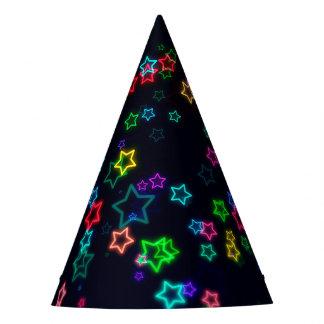 Chapéu De Festa Estrela colorida do néon do pop