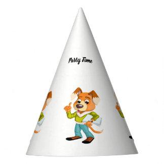 Chapéu De Festa Estudante do cão dos desenhos animados que obtem