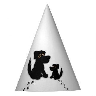 Chapéu De Festa Família de cão preto