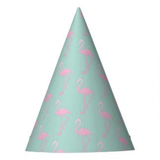 Chapéu De Festa Flamingo cor-de-rosa no teste padrão sem emenda da