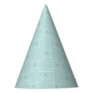 Chapéu De Festa Flamingo - teste padrão geométrico abstrato - azul