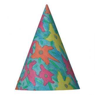 Chapéu De Festa Flores brilhantes da aguarela