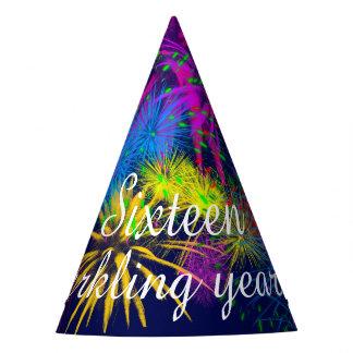 Chapéu De Festa Fogos-de-artifício dezesseis anos sparkling