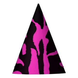 Chapéu De Festa Forma animal da selva preta e cor-de-rosa da zebra