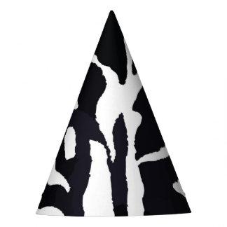 Chapéu De Festa Forma preto e branco do animal da zebra