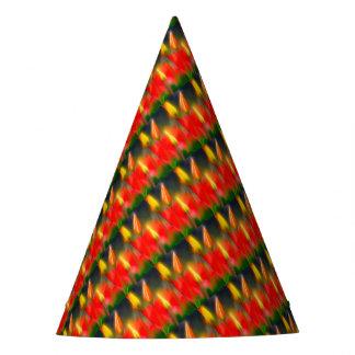 Chapéu De Festa Fulgor vermelho e amarelo da tulipa