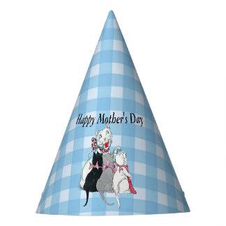 Chapéu De Festa Gato do dia das mães com seus três gatinhos na