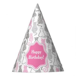 Chapéu De Festa Ideias cor-de-rosa e cinzentas de Whimiscal do