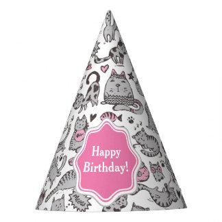 Chapéu De Festa Ideias cor-de-rosa e cinzentas de Whimiscal dos