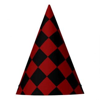 Chapéu De Festa Impressão preto e vermelho do verificador do