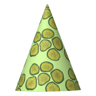 Chapéu De Festa Impressão verde de Foodie das salmouras doces das
