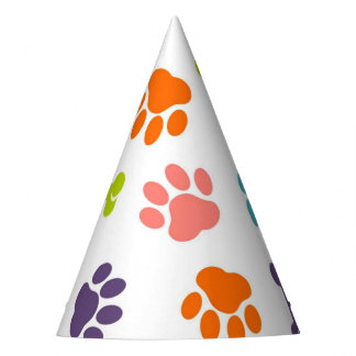 Chapéu De Festa Impressões da pata do filhote de cachorro