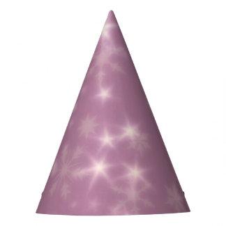 Chapéu De Festa Lilac obscuro das estrelas