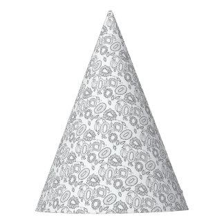 Chapéu De Festa Linha floral lunática design do pulverizador da