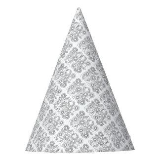 Chapéu De Festa Linha frisada floral design do pulverizador da